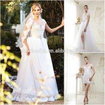 Oumeiya Onw684 Elegant Short Sleeve Two Piece Detachable Wedding