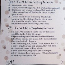 Outstanding Funny Wedding Rsvp Cards 9 Hilarious Wedding