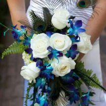 Peacock Bouquets Weddings Best 25 Peacock Wedding Flowers Ideas On