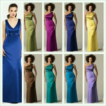 Peacock Color Theme Bridesmaid Dresses From Dessy Com
