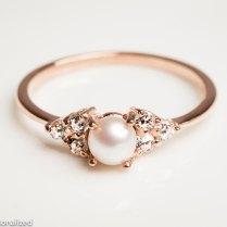 Pearl Wedding Rings 1364