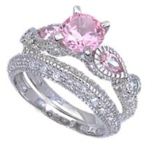 Pink Diamond Engagement Rings Taylor Hart Pink Wedding Rings