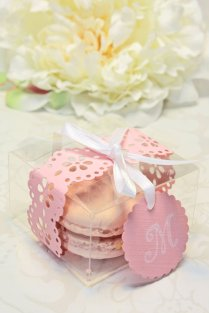 Pink Doily Shower Favors Favor Boxes 30 Favor Boxes Bridal