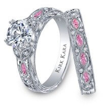 Pink Wedding Rings Pink Wedding Rings Rikof