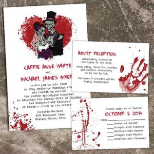 Printable Halloween Wedding Invitations, Ideas And Inspiration