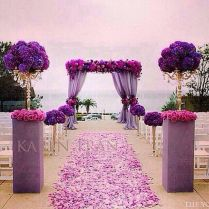Purple And White Wedding Decorations 8650