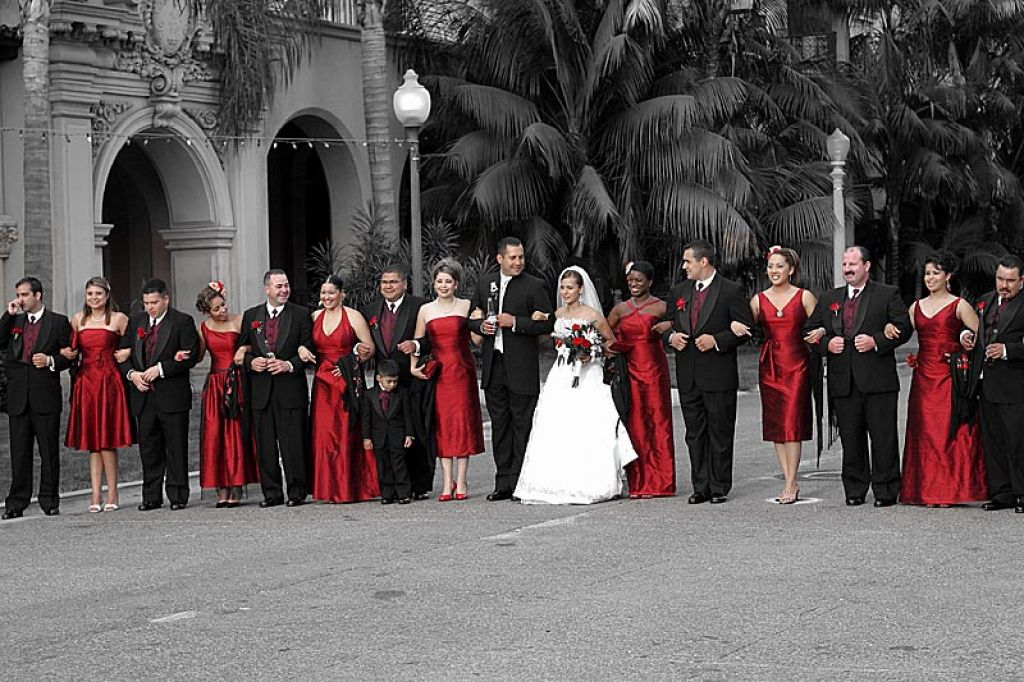 Red Black And White Weddings