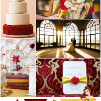 Red Gold And Yellow Beauty And The Beast Wedding Theme A Hue