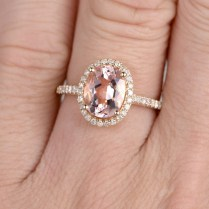 Ring For Women 1 5ct Oval Cut 7x9mm Morganiter Engagement Ring 14k