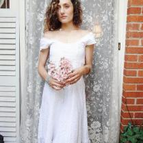 Romantic Cowgirl Wedding Dress,prairie Wedding, Mori Girl, Altered