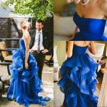 Royal Blue Wedding Gowns Personalizado De La Boda 2017 Sodigne