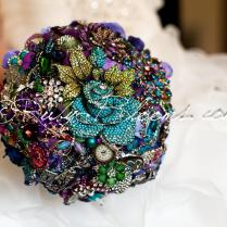 Royal Purple Wedding Brooch Bouquet Deposit Alice In Wonderland