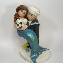 Sailor And Mermaid Wedding Cake Topper By Gingerbabies On Deviantart