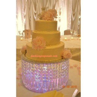 Sale Wedding Crystal Acrylic Cake Stand With Crystals Chandelier