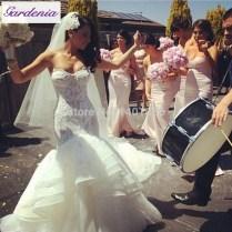 Sexy Princess Wedding Dress Vestido Dcesa 2015 Bling Corset Bride