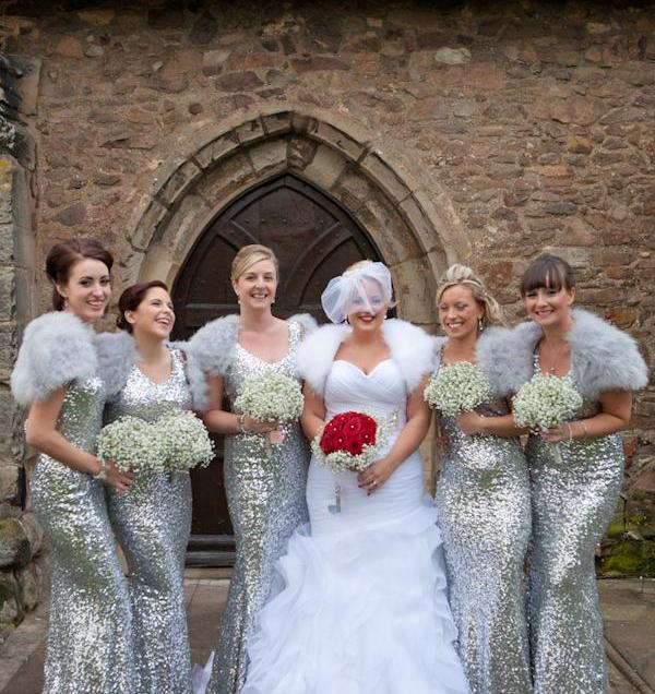 Silver & White Sequin Glamorous Winter Wedding