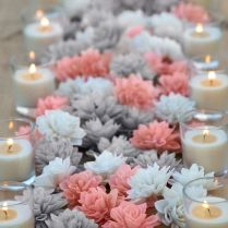 Stunning Coral And Silver Wedding Decorations 42 In Wedding Candy