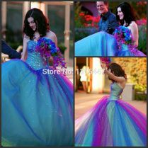 Stunning Purple And Blue Wedding Dresses Contemporary