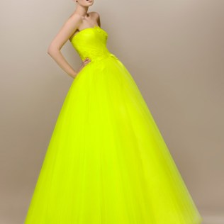 Stunning Yellow Wedding Gown Contemporary