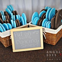 Teal And Brown Wedding Decorations