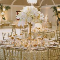 Terrific Gold And White Wedding Decorations 91 For Wedding Table