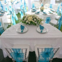Terrific Turquoise Blue And Silver Wedding Decor 64 For Your