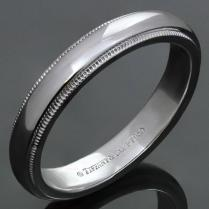 Tiffany And Co Platinum Milgrain Men's Wedding Band Ring For Sale