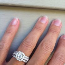 Two Wedding Bands Around Engagement Ring Best 25 Double Wedding