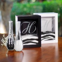 Unity Sand Ceremony Shadow Box Set Black Or White Wedding
