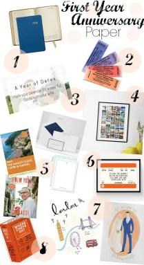 Wedding Anniversary 1st Year Gift Ideas