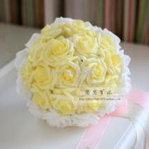 Wedding Bouquet Artificial Rose Flowers Yellow Rose Bride Bouquet