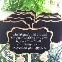 Wedding Chalkboard Table Numbers