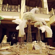Wedding Decoration Ideas Table Art Deco Wedding Decorations With