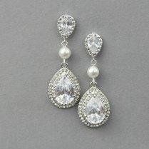 Wedding Earrings Vintage Bridal Earrings Wedding Pearl