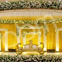 Wedding Ideas Wedding Stage Decoration With Flowers Elegant