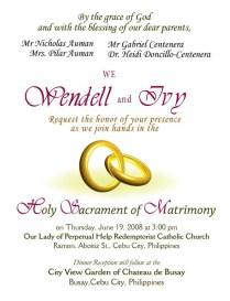 Wedding Invitation Wording Examples
