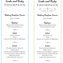 Wedding Menu Template – 5 Plus Printable Designs