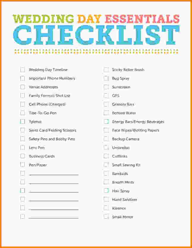 Wedding Planner Checklist Pdf