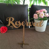 Wedding Reserved Sign, Reserved Sign, Wood Standing Reserved Table