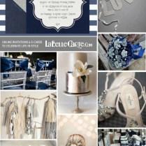 Wedding Silver Navy Blue Online Invitations Ideas Decoration