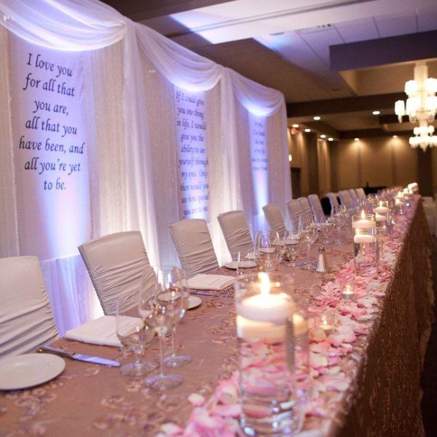 Wedding Table Backdrop Ideas Affordable Backdrop Behind Head Table