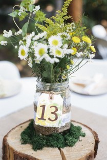 Wedding Table Decorations Jam Jars 13035