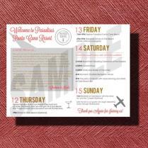 Wedding Weekend Schedule Of Events, Punta Cana Destination Wedding
