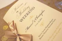 Welcome Wedding Booklet, Gold Wedding Programs, Wedding Welcome