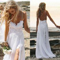 White Beach Wedding Dresses White Wedding Beach Dress Wedding