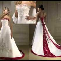 White Wedding Dress With Red Naf Dresses Red And White Wedding