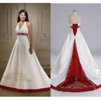 White Wedding Dress With Red T08i2wko – Watchfreak Women Fashions