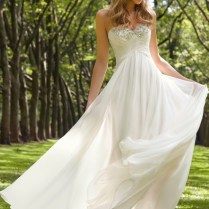 White, Weightless, Strapless – What Is It Chiffon Wedding Dress!