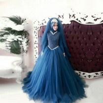 2016 Long Sleeve Muslim Wedding Dress Luxury Gelinlik Beaded