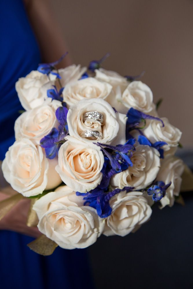 Royal Blue And Champagne Wedding